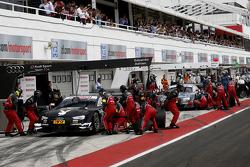 Adrien Tambay, Audi Sport Team Abt Sportsline Audi RS 5 DTM and Nico M¸ller, Audi Sport Team Rosberg Audi RS 5 DTM