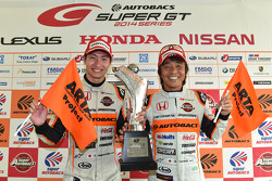 GT300 winners Shinichi Takagi, Takashi Kobayashi
