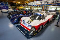 Visit of Courage Compétition: Courage Le Mans prototype cars
