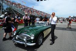 Jean-Eric Vergne, Scuderia Toro Rosso and Alex Molina on the drivers parade