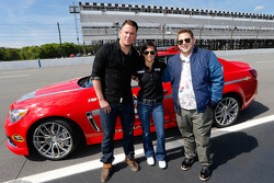 Danica Patrick with actors Jonah Hill and Channing Tatum