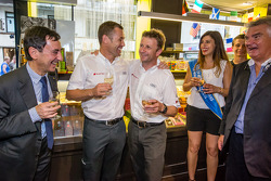 Hand imprint ceremony: 2013 24 Hours of Le Mans winners Tom Kristensen and Allan McNish with Miss 24 Hours of Le Mans 2014 and ACO President Pierre Fillon