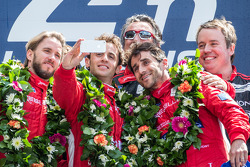 LMP1-L podium: selfie for class winners Nicolas Prost, Nick Heidfeld, Mathias Beche
