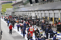 The GP3 pitlane