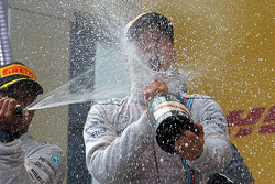 Valtteri Bottas, Williams celebrates his third position on the podium