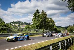 Start: #16 Twin Busch Motorsport Audi R8 LMS ultra: Dennis Busch, Marc Busch, Manuel Lauck, Stefan Landmann