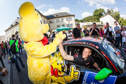 Jörg Bergmeister with the Haribo bear
