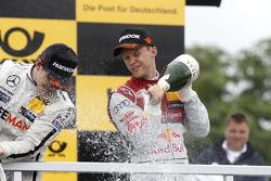 Podium, Mattias Ekstrom, Audi Sport Team Abt Sportsline, Audi A5 DTM