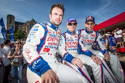 Nicolas Lapierre, Anthony Davidson and Sébastien Buemi