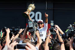 Race winner Lewis Hamilton, Mercedes AMG F1 celebrates after the race