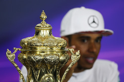 race winner Lewis Hamilton, Mercedes AMG F1 in the post race FIA Press Conference