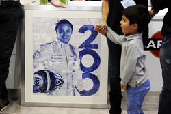 Felipe Massa, Williams celebrates his 200th GP with his son Felipinho Massa