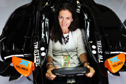 Hannah White, Broadcaster, Sailor and Adventurer, in the Sahara Force India F1 VJM07