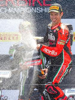 Race 1 winner Marco Melandri