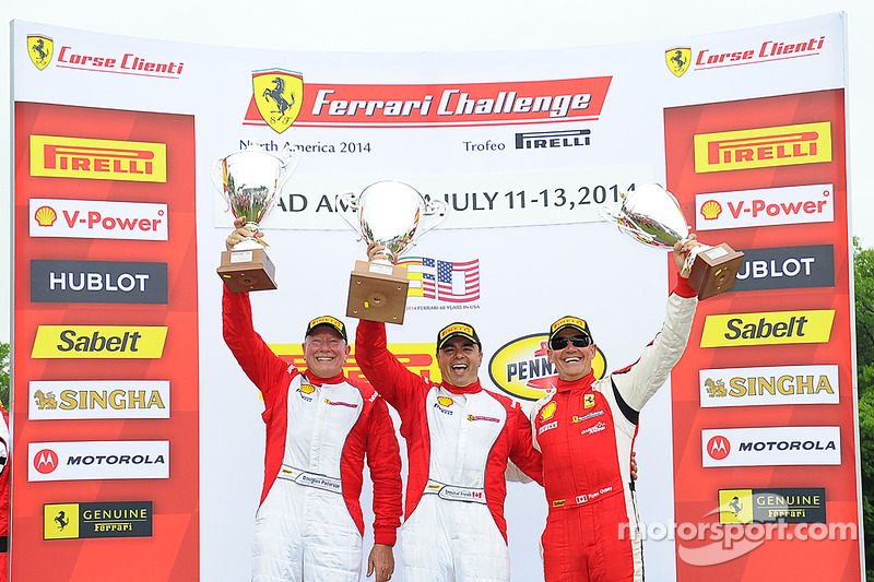 TP podium: race winner Emmanuel Anassis, second place Doug Peterson, third place Ryan Ockey