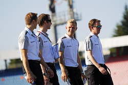 Kevin Magnussen, McLaren walks the circuit