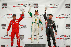 INDYCAR: Race winner Mike Conway, second place Tony Kanaan, third place Will Power