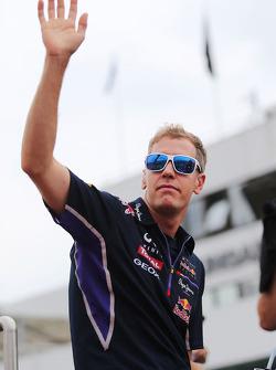 Sebastian Vettel, Red Bull Racing on the drivers parade.