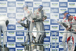 WRC: Podium: winners Jari-Matti Latvala and Miikka Anttila, second place Sébastien Ogier and Julien Ingrassia, third place Kris Meeke and Paul Nagle