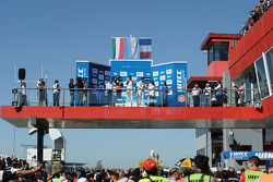 Podium: winner Jose Maria Lopez, second place Norbert Michelisz, third place Yvan Muller