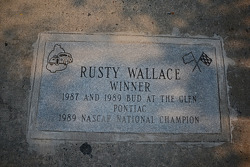 NASCAR-CUP: Rusty Wallace commemorative plaque enscribed with his Glen accomplishments