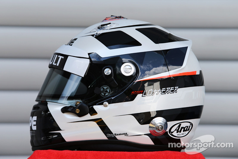 The helmet of Andre Lotterer, Caterham F1 Team at Belgian GP