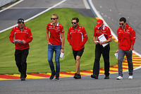 Max Chilton, Marussia F1 Team walks the circuit with Alexander Rossi, Marussia F1 Team Reserve Driver