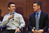 Daniel Suarez and Carl Edwards