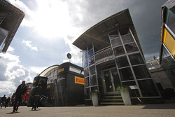 Marussia F1 Team motorhome in the paddock