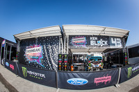 #43 Hoonigan Racing Division Ford Fiesta ST paddock area
