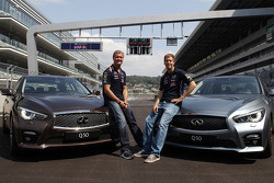 David Coulthard and Sebastian Vettel