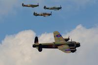 Lancaster Bomber and Spitfires