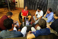 Max Chilton, Marussia F1 Team with the media