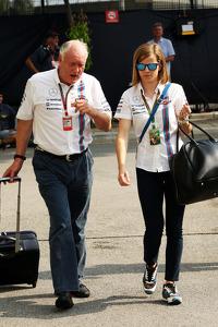 (L to R): Edward Charlton, Williams Non-Executive Director with Susie Wolff, Williams Development Driver
