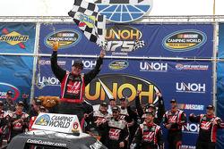 Race winner Cole Custer celebrates