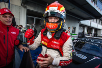 Race winner and Blancpain Endurance Series champion Laurens Vanthoor celebrates