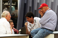 Niki Lauda, Mercedes Non-Executive Chairman, and Toto Wolff, Mercedes AMG F1 Shareholder and Executive Director