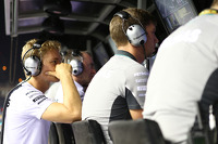 Nico Rosberg, Mercedes AMG F1 W05 watches the race from the pit lane