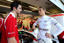 Alexander Rossi, Marussia F1 Team and Max Chilton, Marussia F1 Team