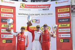 Race winner Emmanuel Anassis, second place Ricardo Perez, third place Ryan Ockey