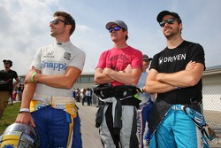 Marco Andretti, Scott Dixon and James Hinchcliffe