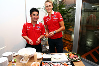 Max Chilton, Marussia F1 Team at the Marussia F1 Team Sushi Happy Hour