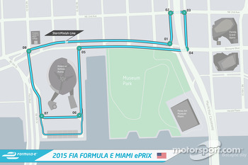 The layout of the Miami ePrix
