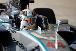 Sieger Lewis Hamilton, Mercedes AMG F1 W05 feiert im Parc Fermé
