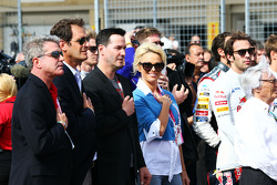 Keanu Reeves, Actor and Pamela Anderson, Actress on the grid