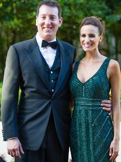 Kyle Busch with wife Samantha