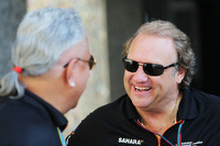 (L to R): Dr. Vijay Mallya, Sahara Force India F1 Team Owner with Robert Fernley, Sahara Force India F1 Team Deputy Team Principal