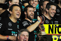 The Mercedes AMG F1 team celebrate the World Championship for Lewis Hamilton, Mercedes AMG F1