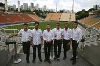 Loic Duval, Lucas di Grassi, Tom Kristensen, Marcel Fässler, Benoit Tréluyer, Andre Lotterer