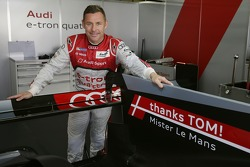 Tom Kristensen with a special message for his retirement